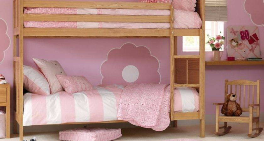 Pink Bunk Bed Theme Girls Bedroom Ideas