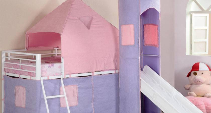 Pink Castle Twin Loft Bed Girls