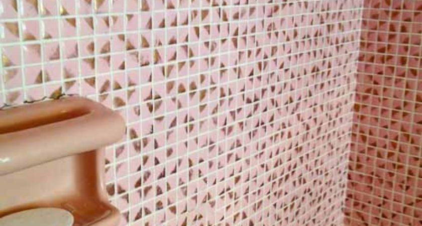 Pink Gold Bathroom Metallic Mosaic Tile