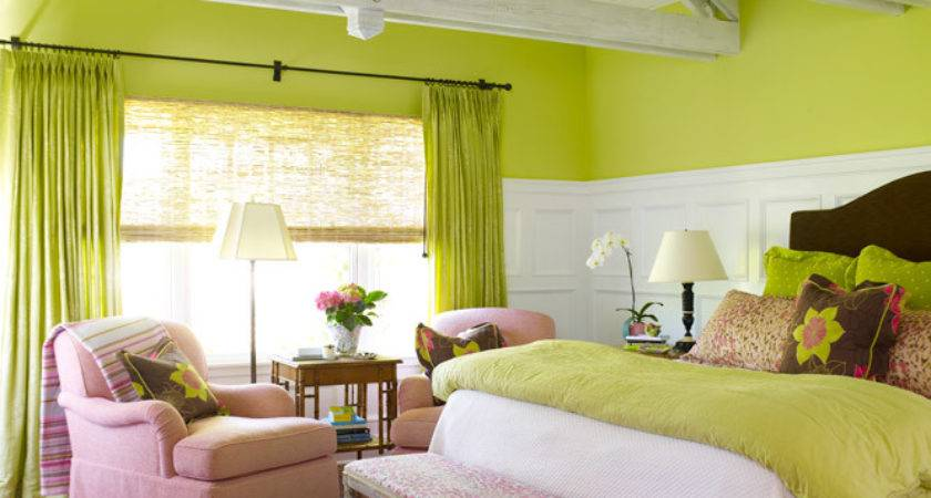 Pink Green Girl Room Transitional