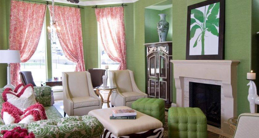 Pink Green Living Room Hgtv
