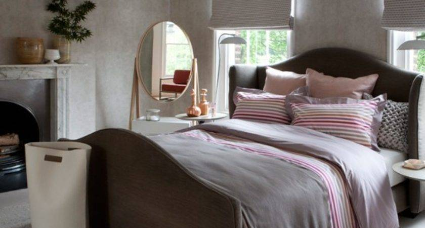 Pink Grey Bedroom Decorating Ideas Traditional