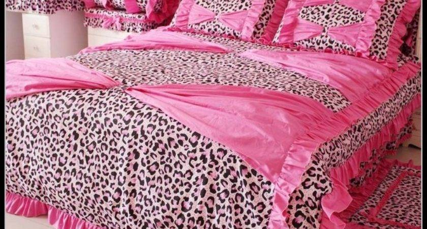 Pink Leopard Print Bedding Bedroom Home Design Ideas