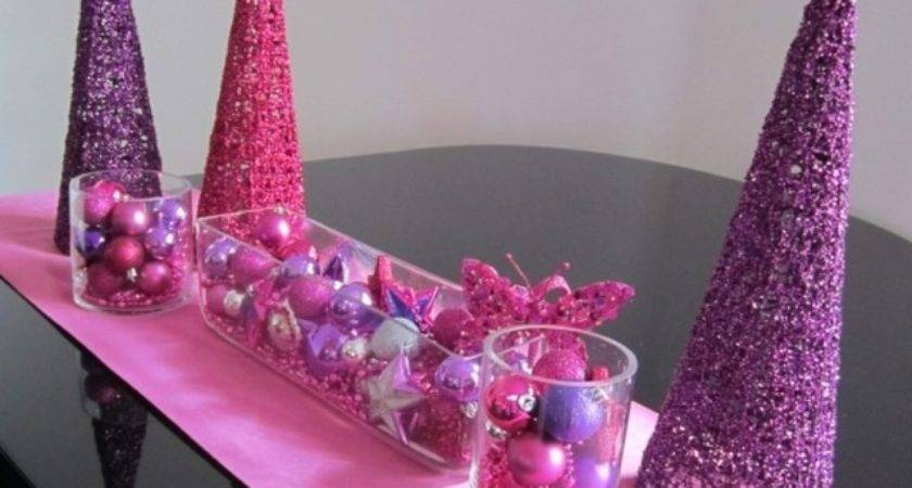 Pink Purple Christmas Decorations Decorating