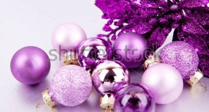Pink Purple Christmas Decorations