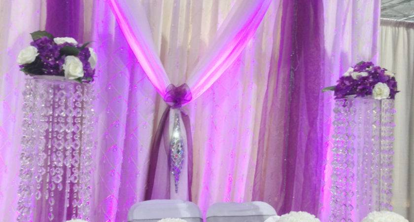 Pink Purple Table Decoration Wedding Reception