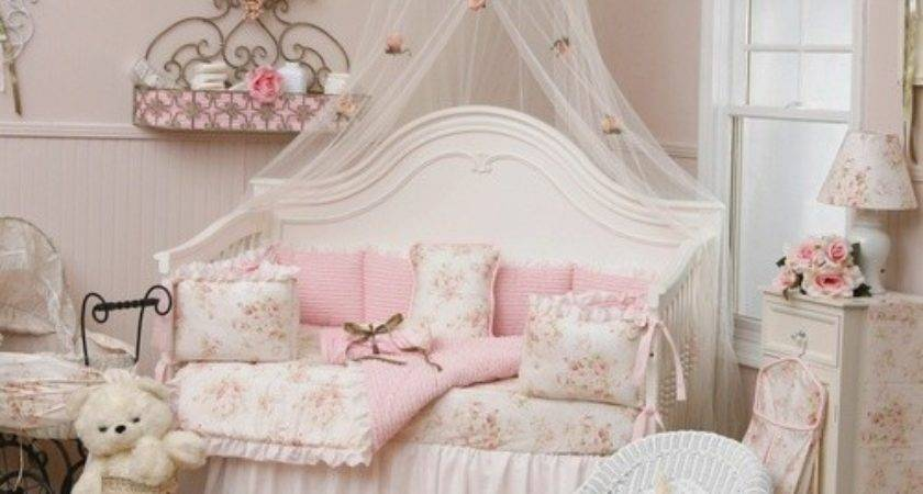 Pink Shabby Chic Bedroom Design