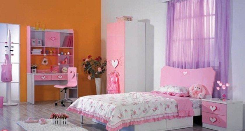 Pink White Girls Bedroom Furniture Bedding Sets