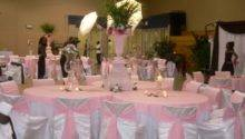 Pink White Wedding Decorations Living Room Interior