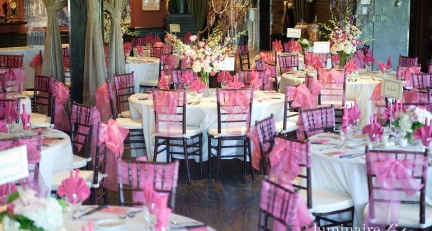 Pink White Wedding Reception Ideas More Table Settings
