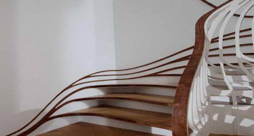 Planning Ideas Staircase Banister Designs Curve
