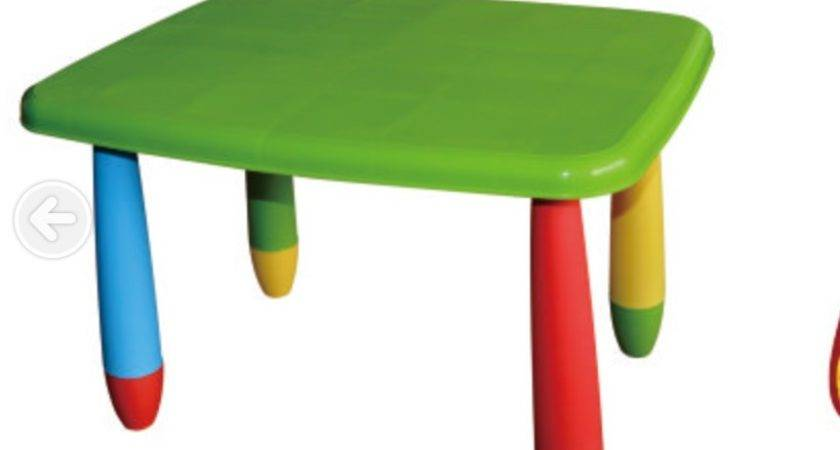 Plastic Table Chairs Kids Furniture