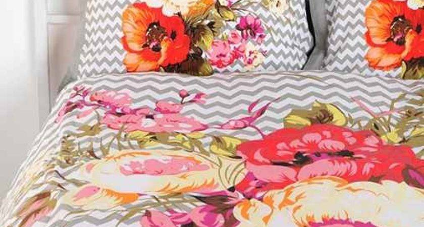 Plum Bow Graphic Bouquet Sham Set Urban Outfitters