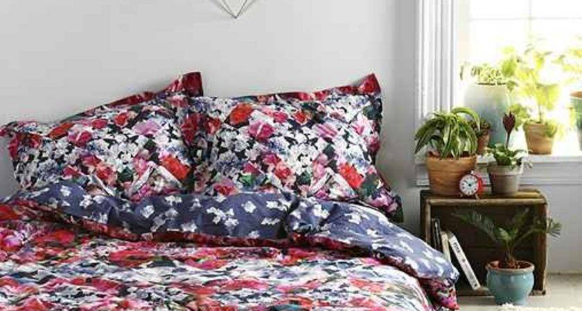 Plum Bow Rose Duvet Cover Urban Outfitters