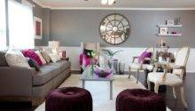 Plum Grey Living Room Modern House