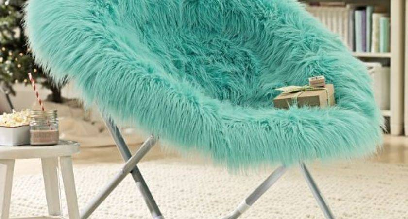 Pool Fur Rific Faux Hang Round Chair Pbteen