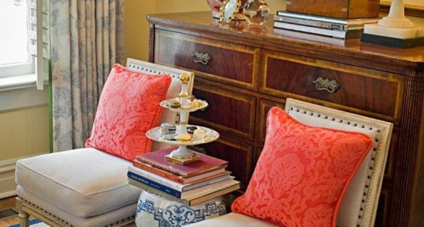 Pretty Living Navy Coral Get Your