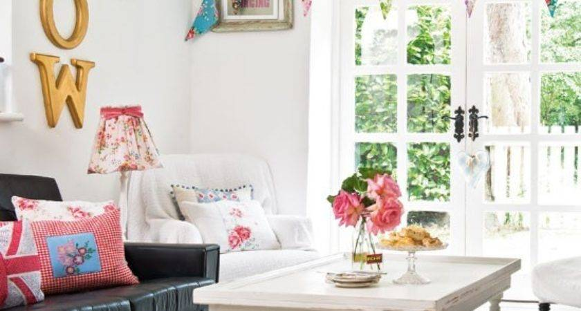 Pretty Living Room Decorating Housetohome