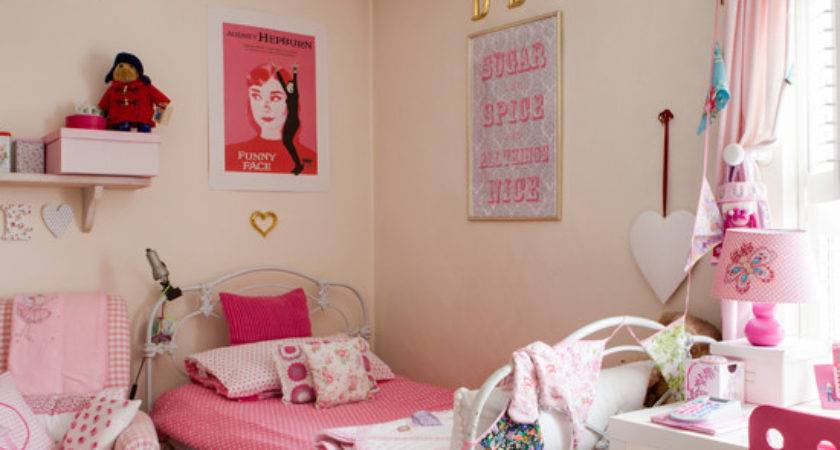 Pretty Pink Children Room Traditional Decorating Ideas
