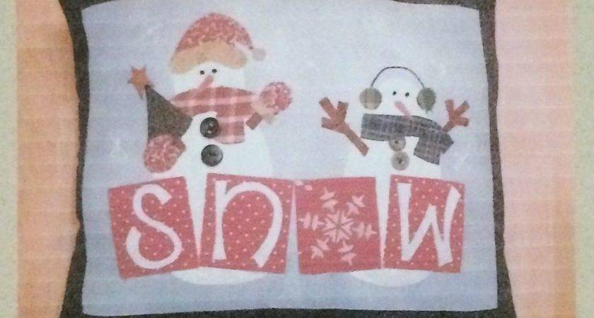 Primitive Uncut Craft Sewing Pattern Snowman