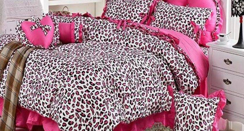 Princess Bedding Fashion Pink Leopard Print Bed