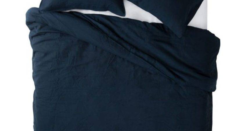 Pure Linen King Quilt Cover Set Navy Style Sourcebook