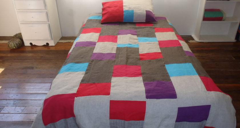 Pure Linen Patchwork Quilt Cover Isn Actually