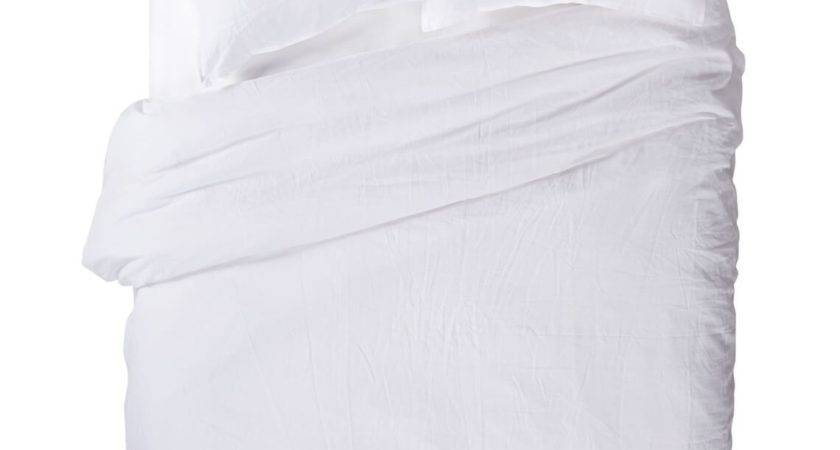Pure Linen Queen Quilt Cover Set White Style Sourcebook