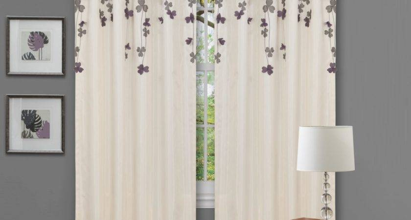 Purple Curtains Grey Walls Curtain Menzilperde