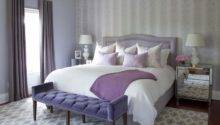 Purple Gray Bedroom Ideas Transitional