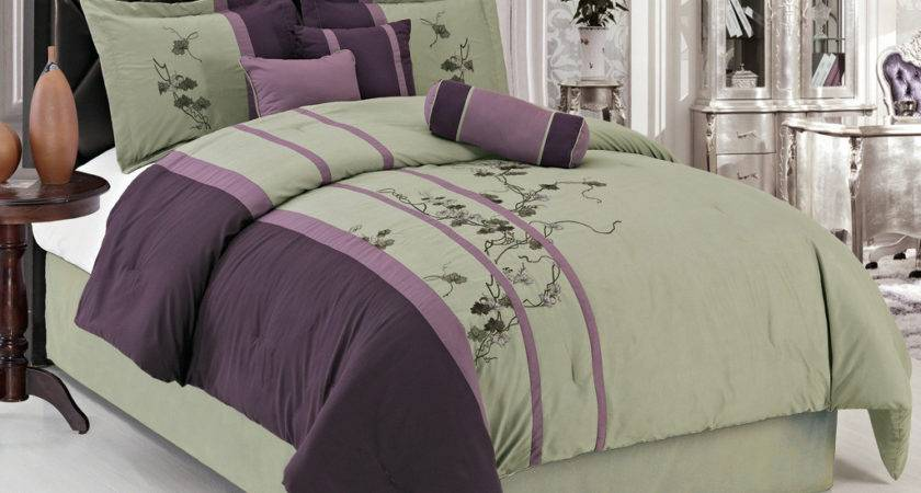 Purple Green Comforter Sets Decorating