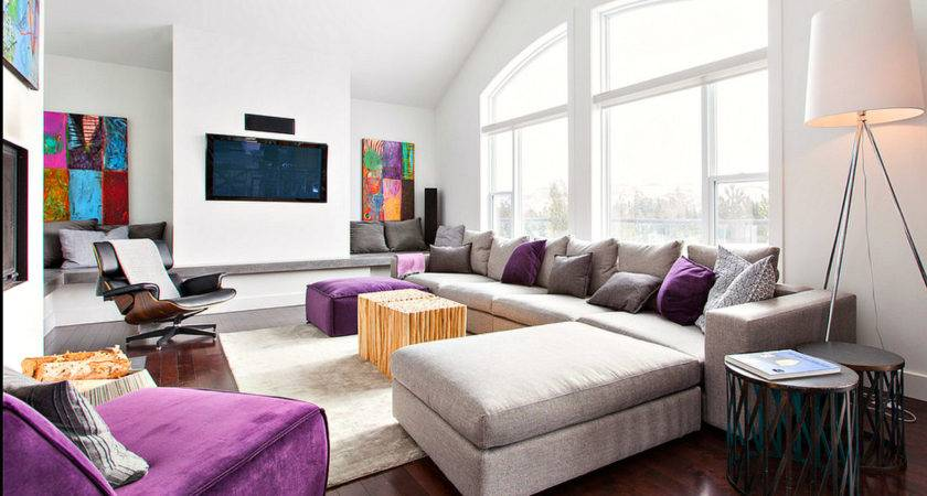 Purple Grey Modern Decor Room Just Decorate