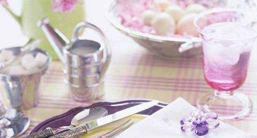 Purple Pink Green Color Combinations Easter Table