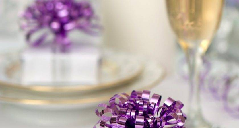 Purple Silver Christmas Table Decorations
