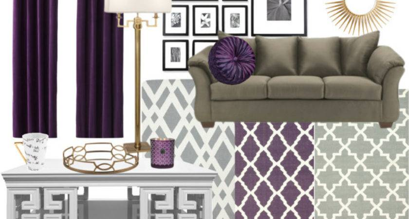 Purple Teal Living Room