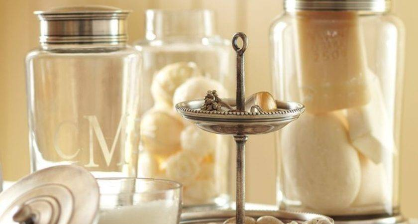 Quinn Beaded Bath Accessories Apothecary Jars