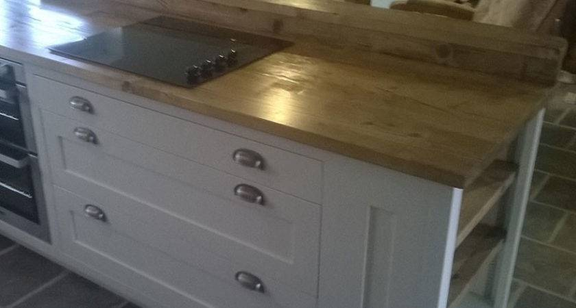 Reclaimed Scaffold Worktops Dove Furniture Kitchens York