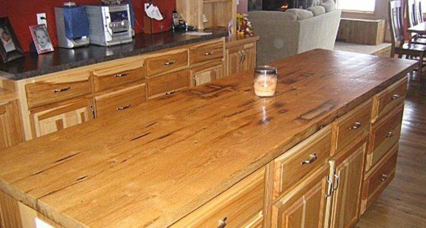Reclaimed Wood Countertops Filled Mortise Holes
