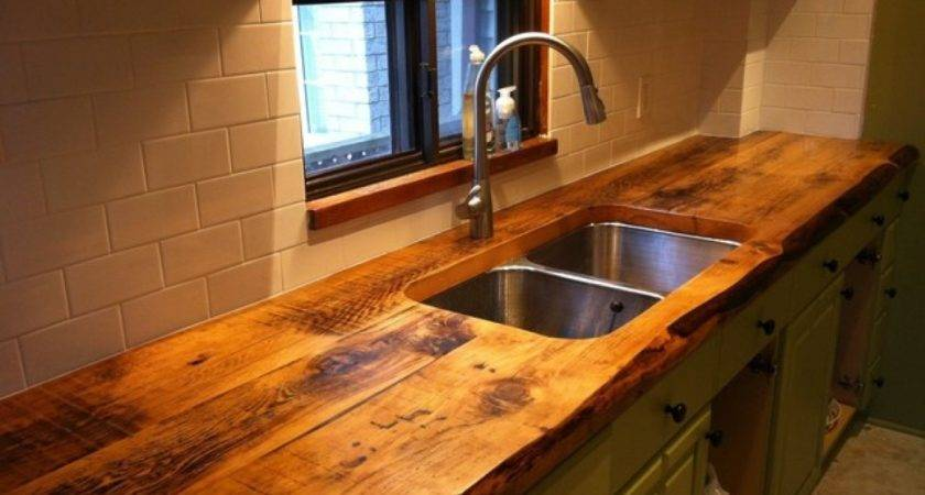 Reclaimed Wood Kitchen Worktop