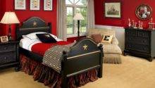 Red Black Gray Boys Bedroom Design Ideas