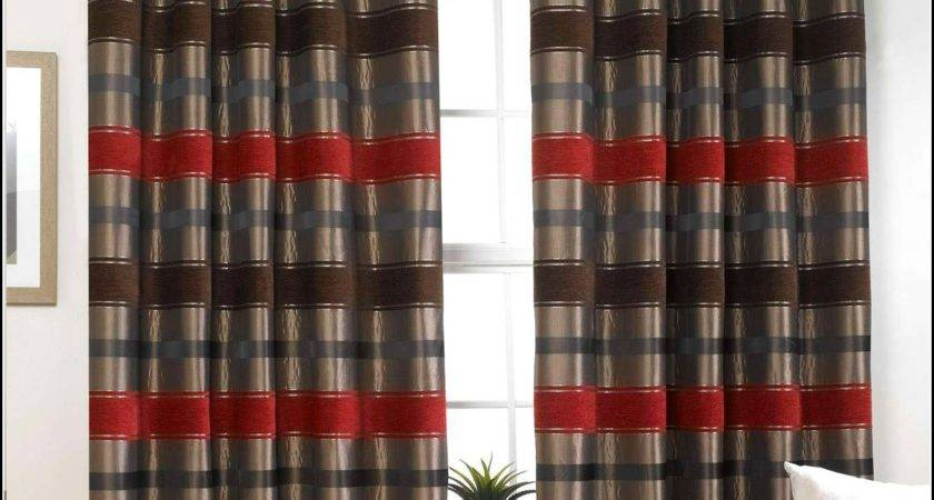 Red Black Grey Curtains Home Design