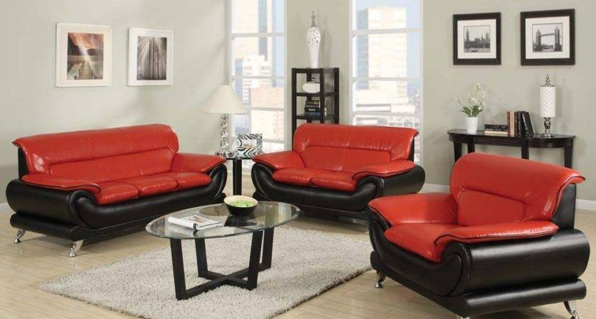 Red Black Sofa Bed