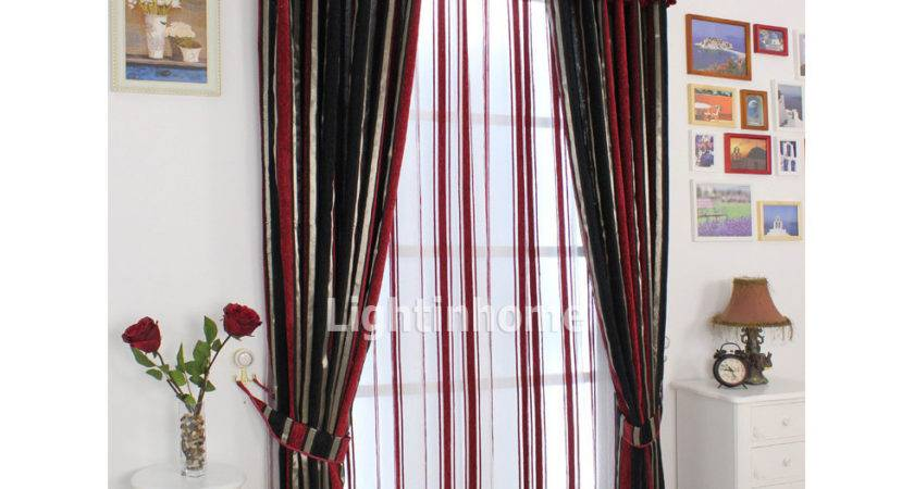 Red Black White Living Room Curtains Curtain