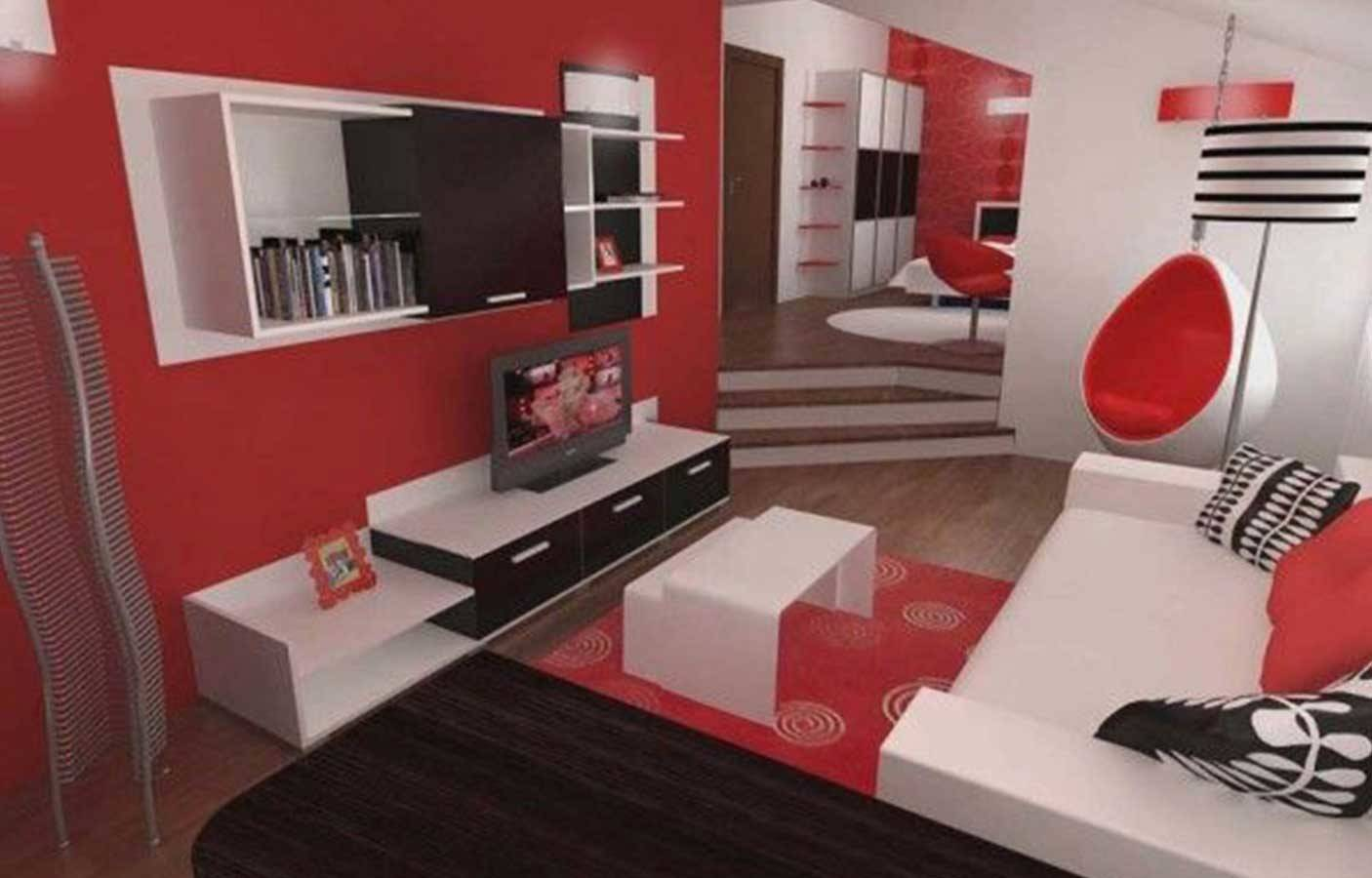 Red Black White Living Room Decorating Ideas Home Barb Homes