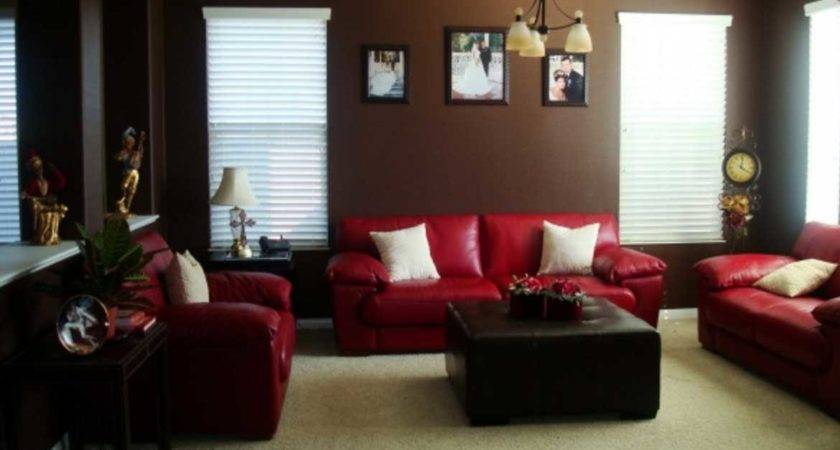 Red Brown Living Room Elegant Visually