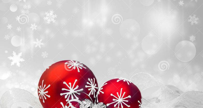 Red Christmas Decorations Winter Text Space