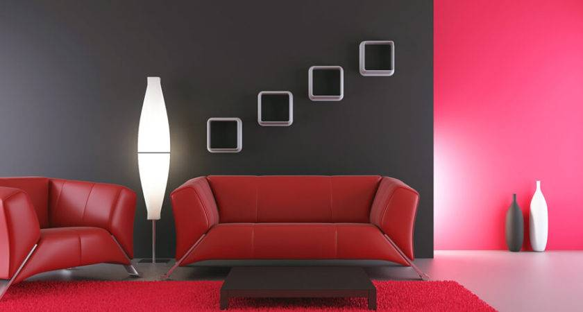 Red Colour Paint Design Ideas Interior Wall Berger