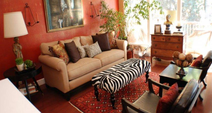 Red Gold Living Room Ideas Brown Color