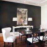 Red Gray Dining Room Contemporary