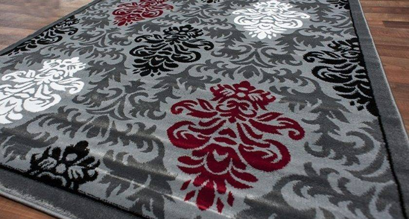 Red Grey Area Rugs Roselawnlutheran